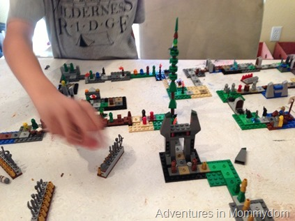 Lego Heroica game set up