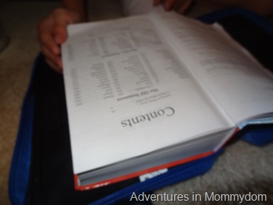 teaching your kids to find things in the Bible