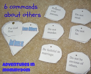 10 commandments activity
