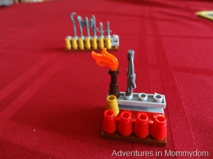 Lego Heroica game pieces