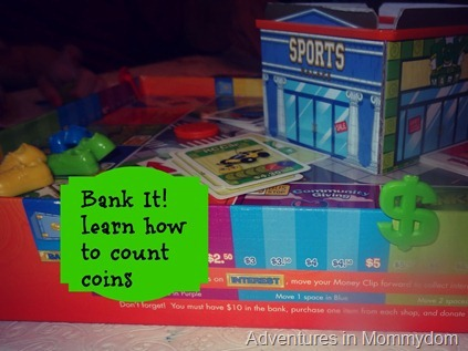 Bank it coin counting game