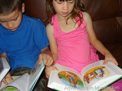 reading storybook Bible