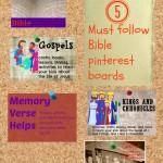 Must follow Bible pinterest boards