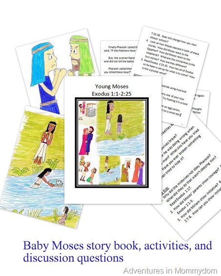 Baby Moses story book activities and discussion questions