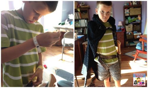 Batman's sewing project