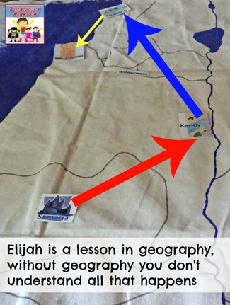 Elijah is a lesson in geography and how it's important to know where things happen