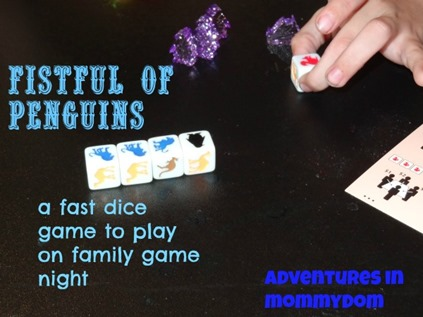 Fistful of penguins dice game for family game night