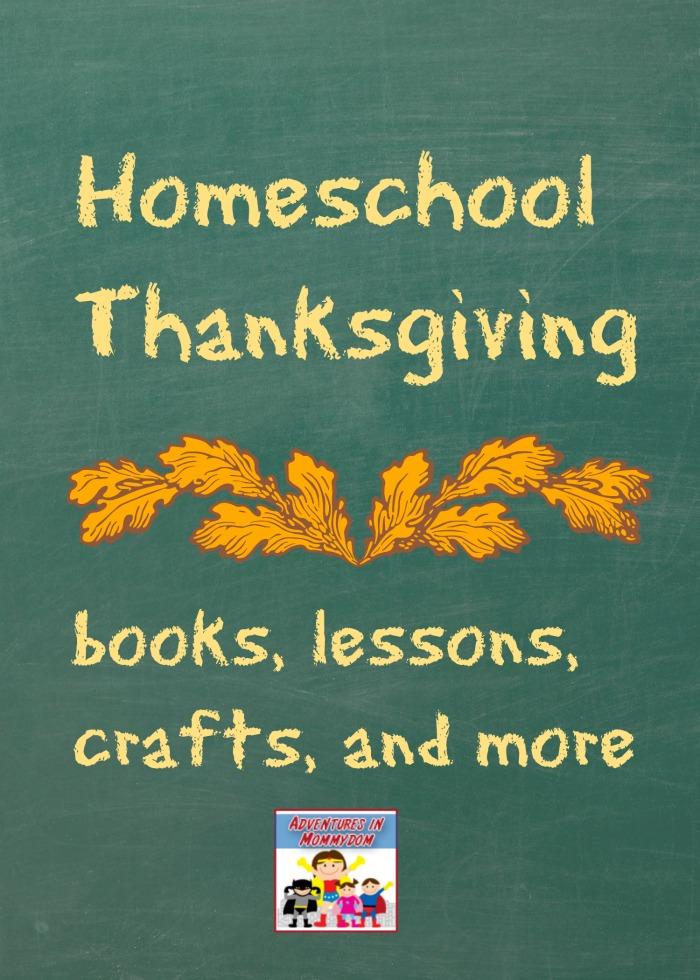 Homeschool Thanksgiving lessons