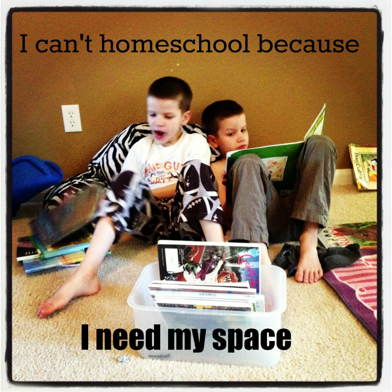 I can't homeschool because I need my space