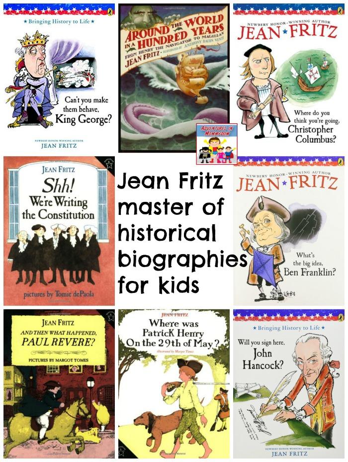 Jean Fritz history books for kids