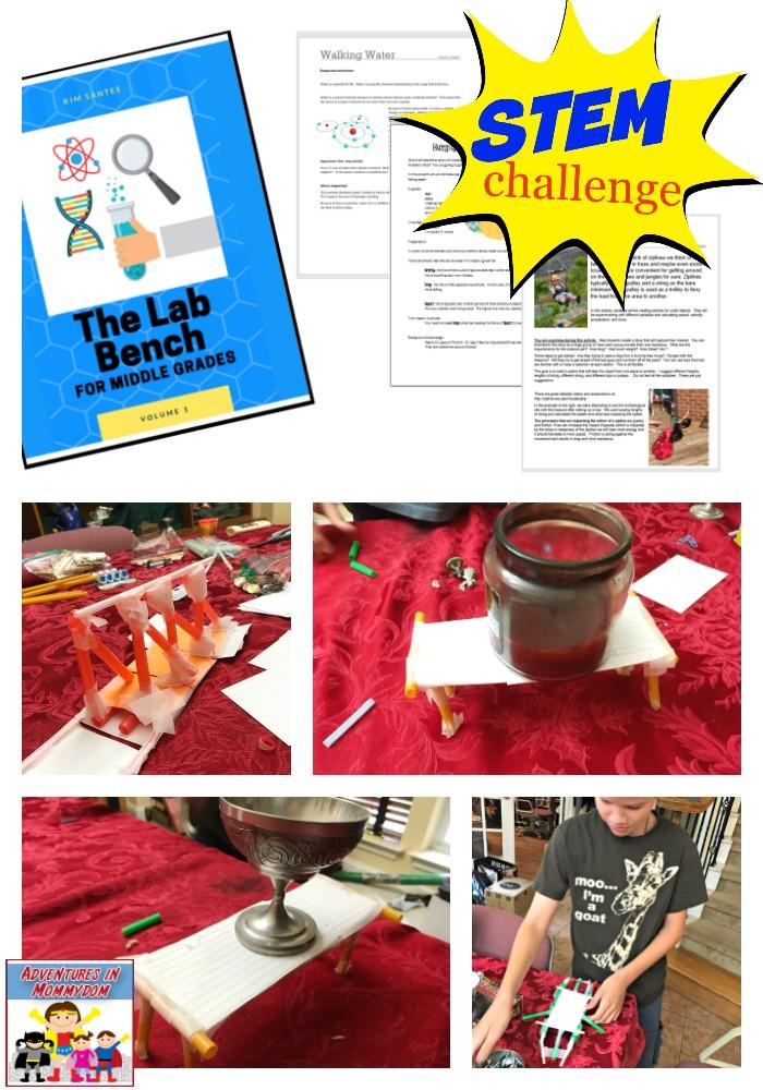 Lab Bench STEM Challenge book
