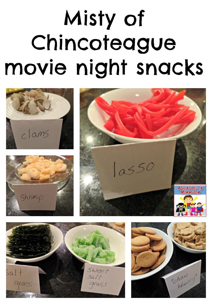 Misty of Chincoteague movie night snacks