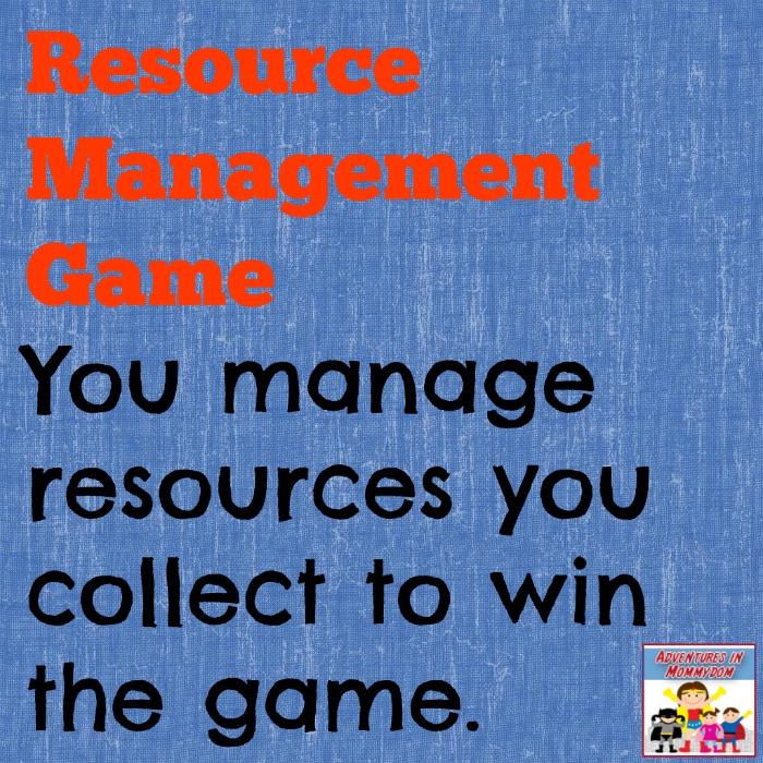 Resource management games