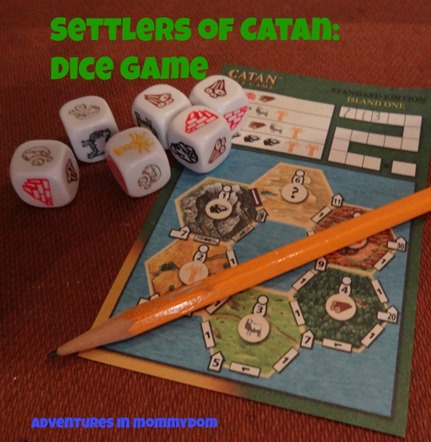 Settlers of Catan Dice Game