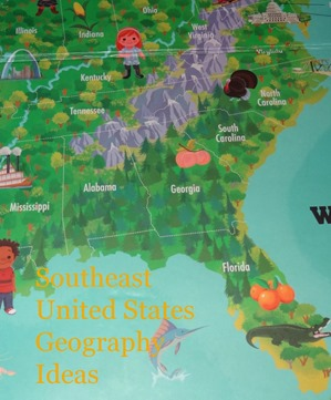 Southeast united states geography ideas