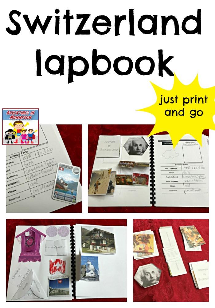 Switzerland lapbook