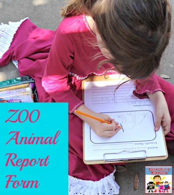 Zoo animal report form