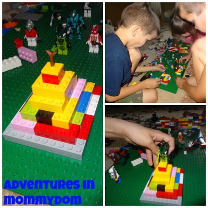 build a ziggurat out of Legos for ancient sumerians
