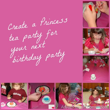 create a princess tea party