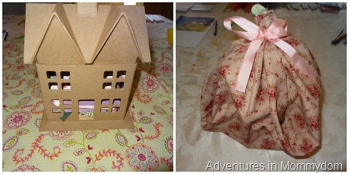 dollhouse kit present wrapping