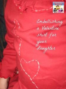 Embellishing a Valentine shirt