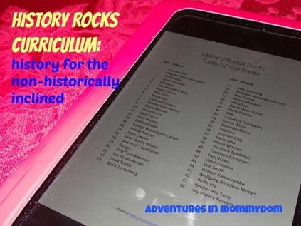 history rocks curriculum