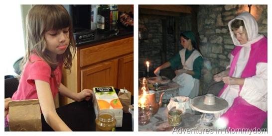 living Nativity pottery store