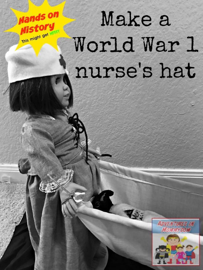 make a World War 1 nurse's hat