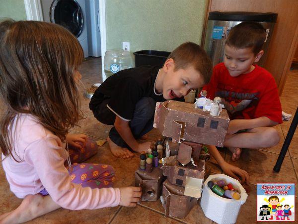 nativity peg doll play by kids