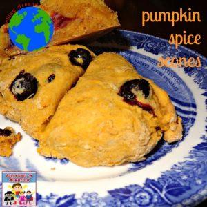 pumpkin spice scones recipe cooking around the world