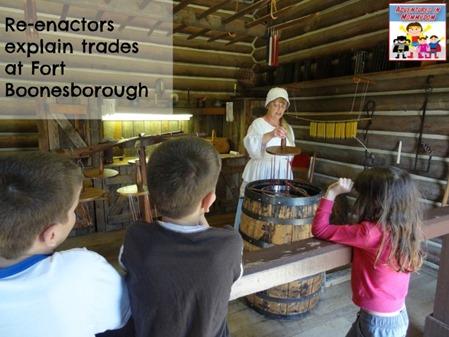 reenactors at Fort Boonesborough
