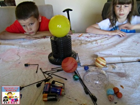 solar system model materials