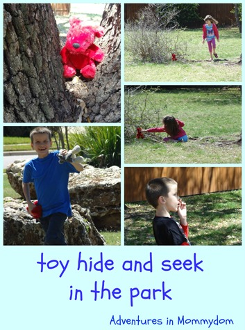 toy hide and seek in the park game