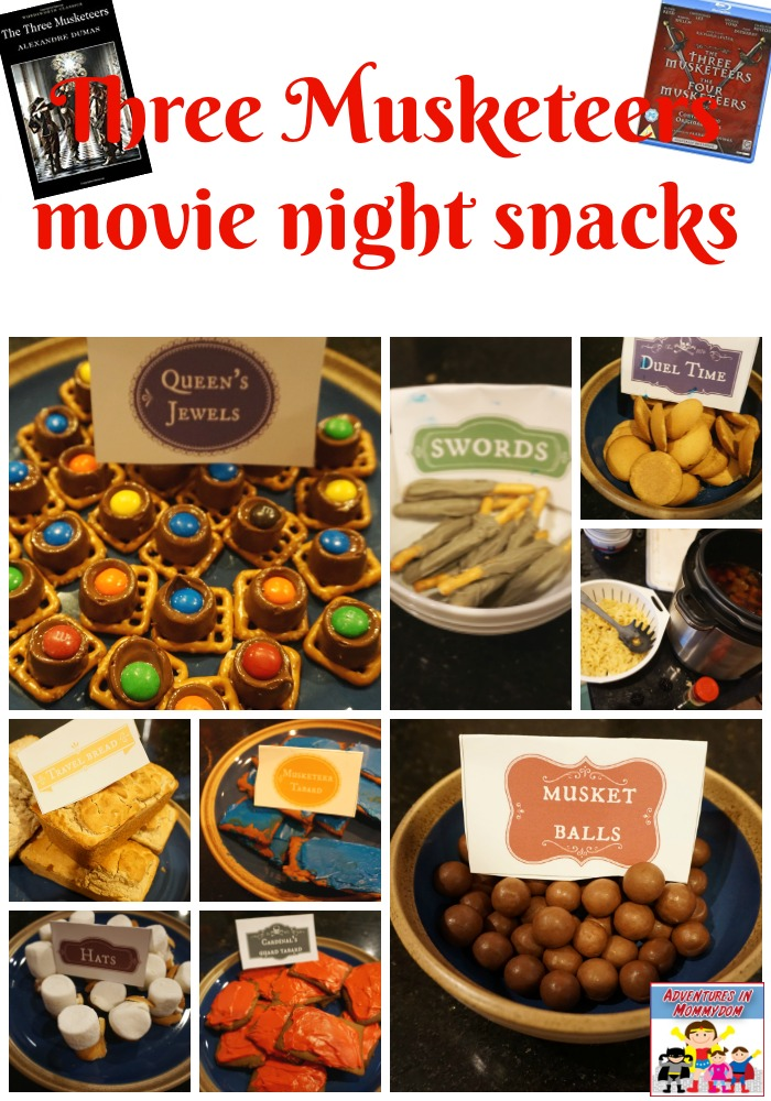 3 Musketeers movie night snacks