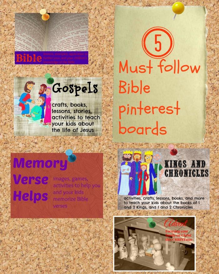5 Must follow Bible pinterest boards