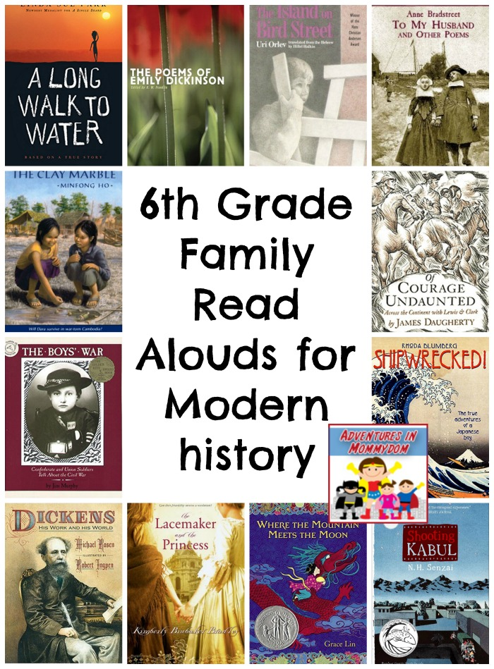 6th Grade Family Read Alouds for 6th grade