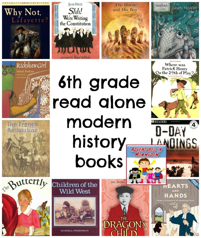 6th grade read alone for modern history