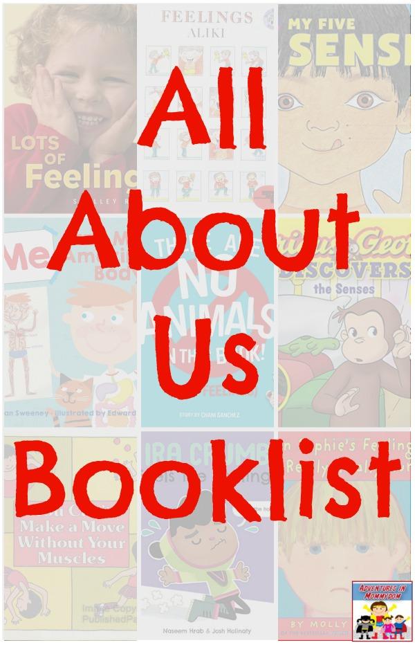 All About Us Booklist #picturebooks #booklist #preschool