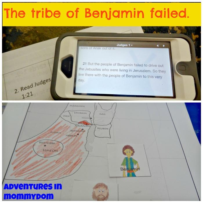 Benjamin failed taking the land of Canaan