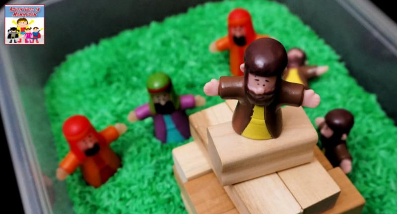Bible sensory bin for your preschool