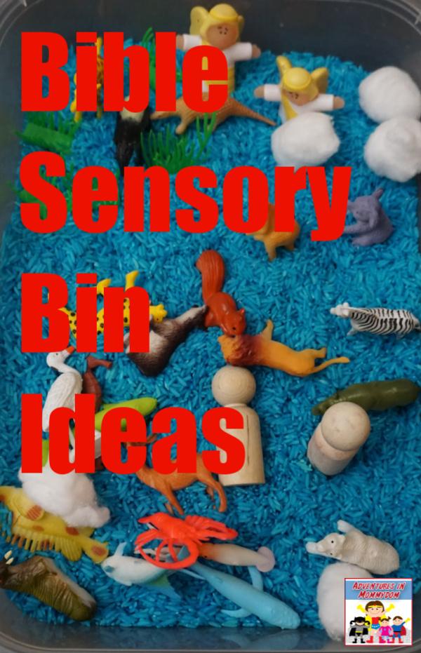 Bible sensory bin ideas