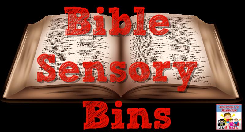 Bible sensory bins for preschool