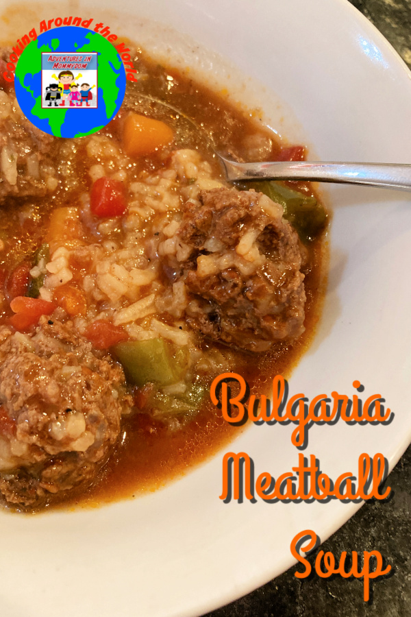 Bulgaria meatball soup