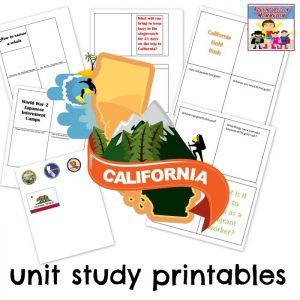 California unit study printables