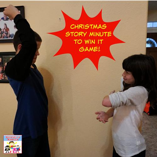 Christmas story paper rock scissors game