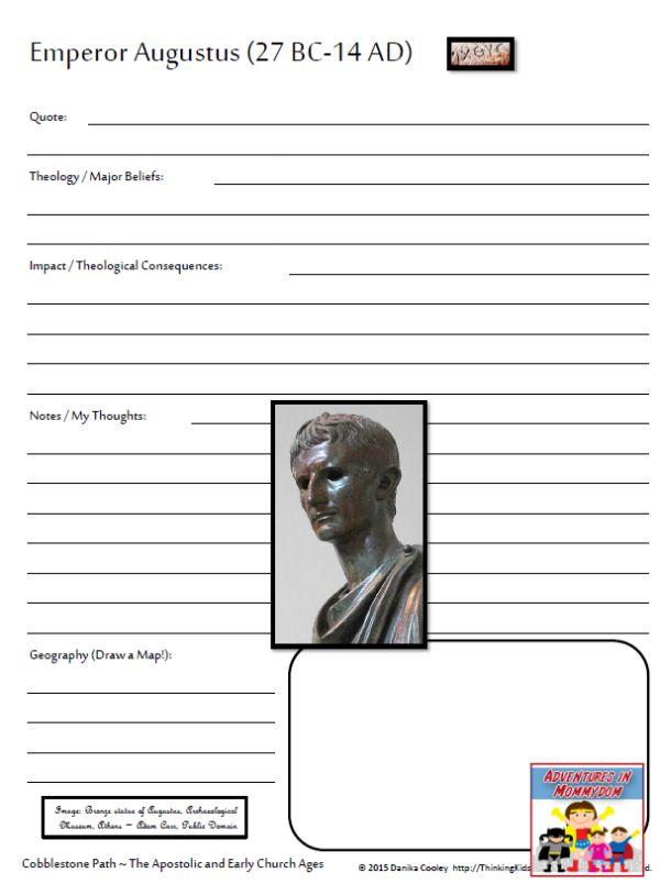 Cobblestone path biography page