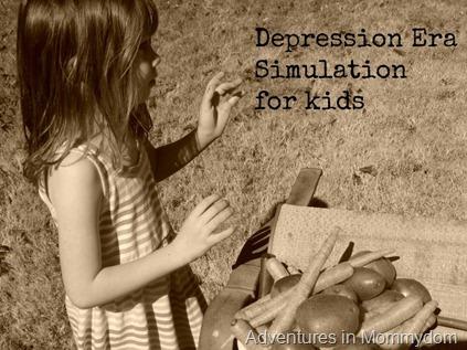 Depression Era simulation for kids