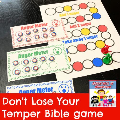 Don't lose your temper Bible game Old Testament Genesis Exodus Samuel