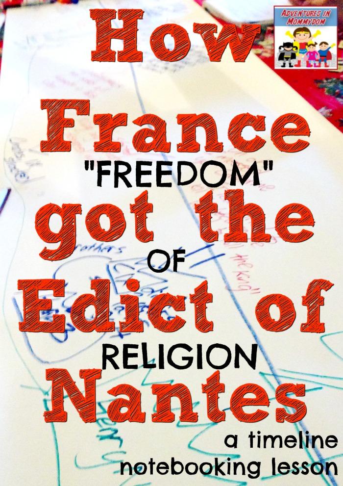 Edict of Nantes lesson