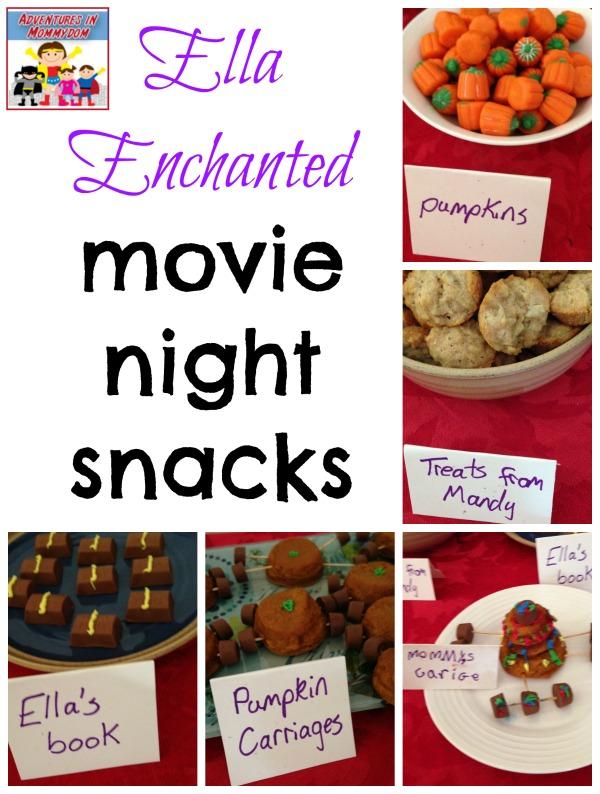 Ella Enchanted movie night snacks